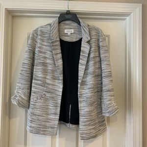 NWT L Elle Rouched Sleeve Blazer